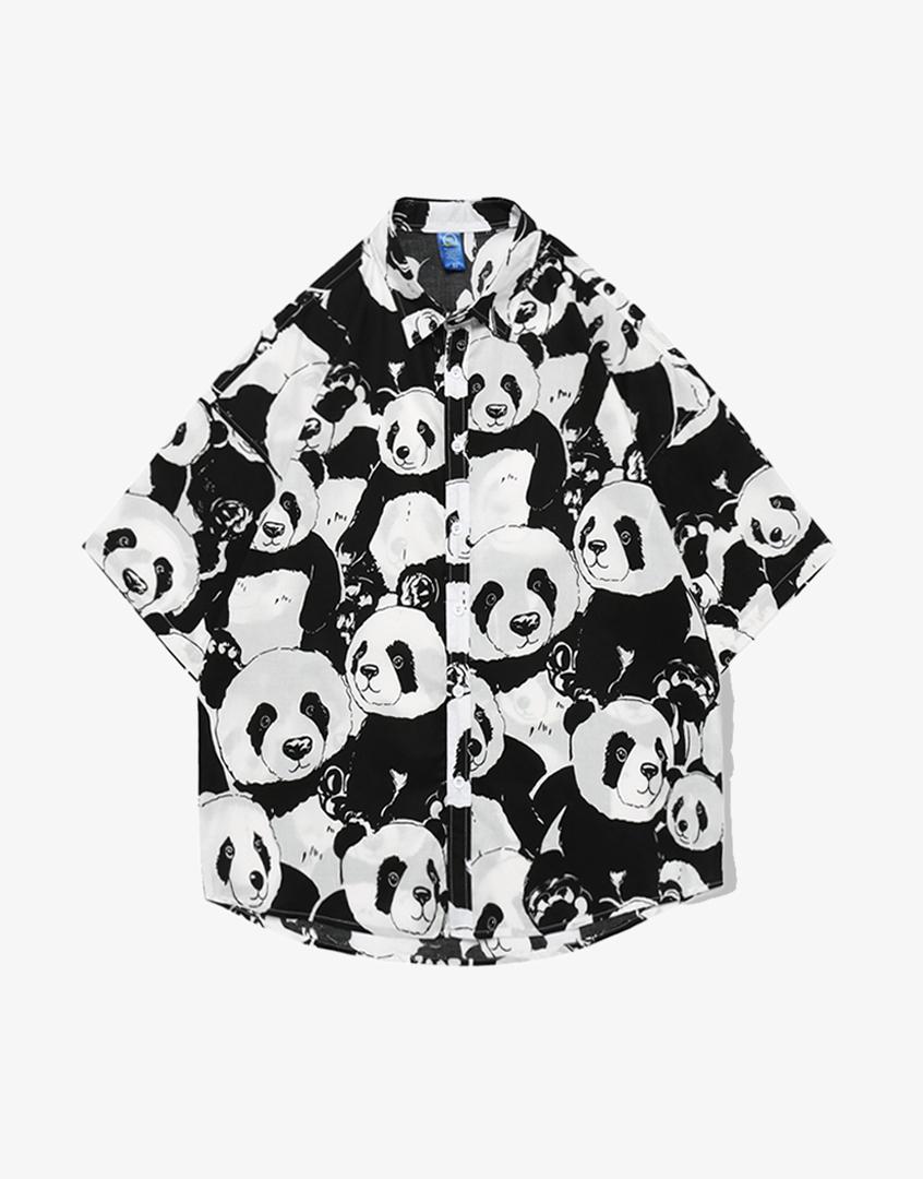 熊貓花襯衫