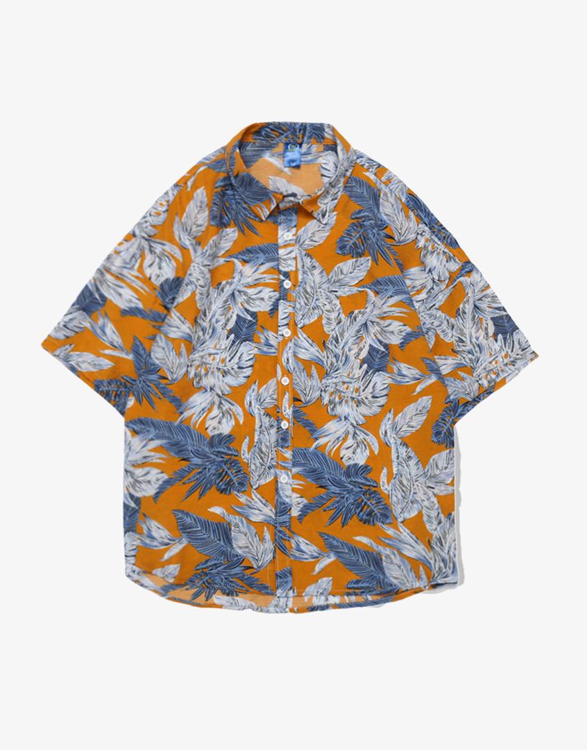 夏日海灘風花襯衫