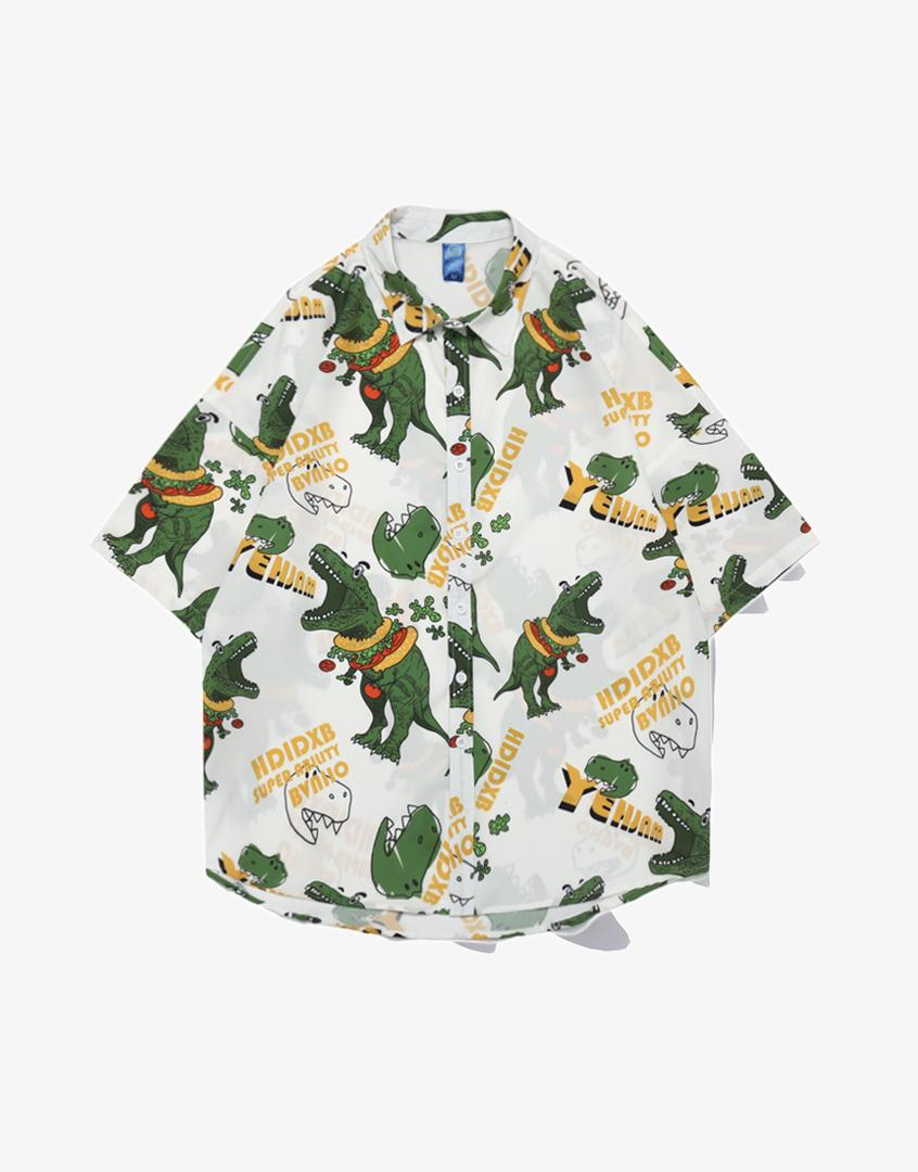 恐龍花襯衫