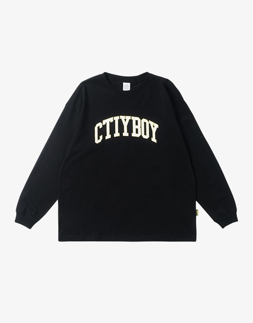 ctiy boy印花長袖TEE