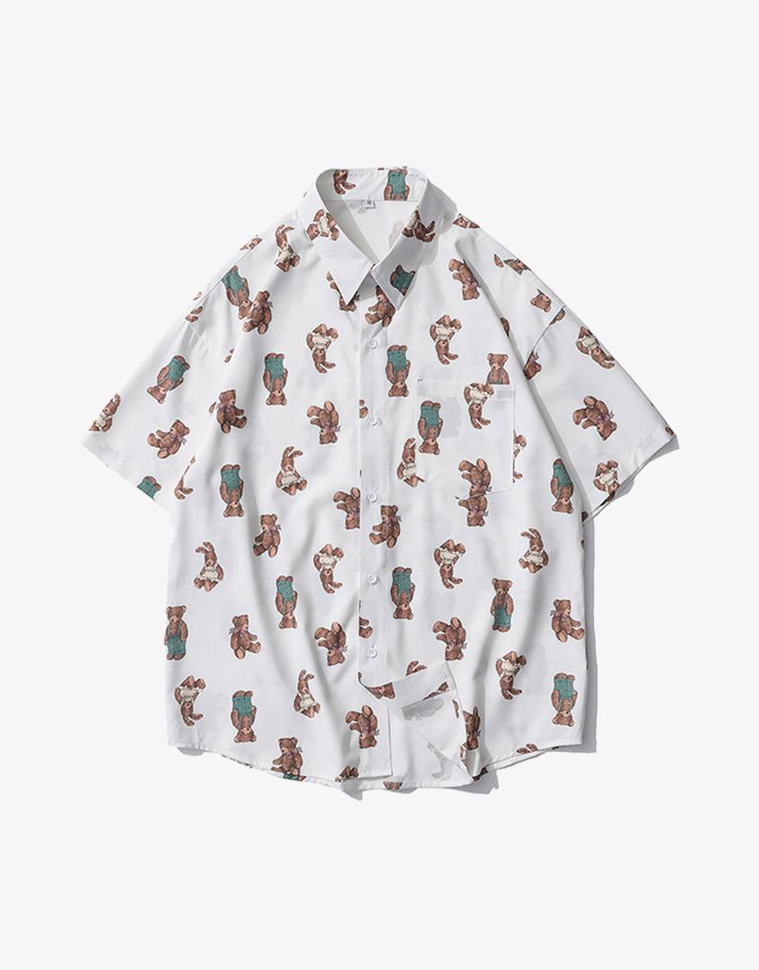 娃娃熊短袖襯衫
