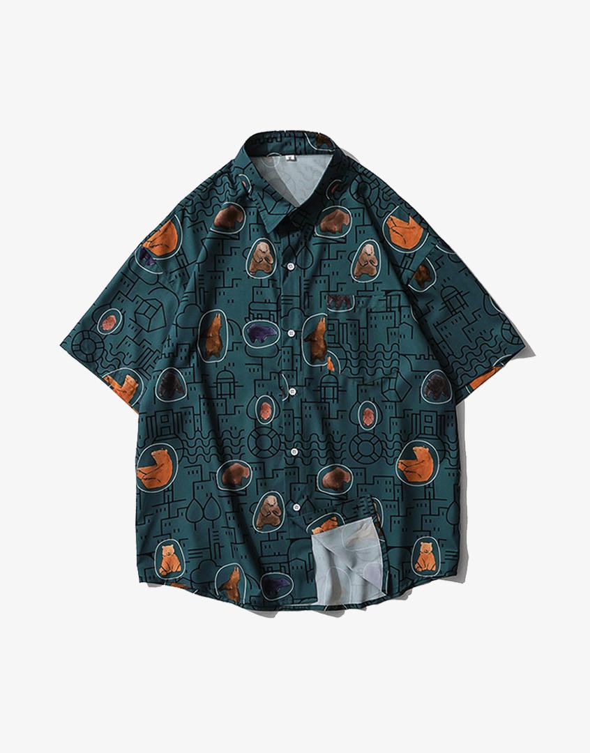 城市熊短袖襯衫