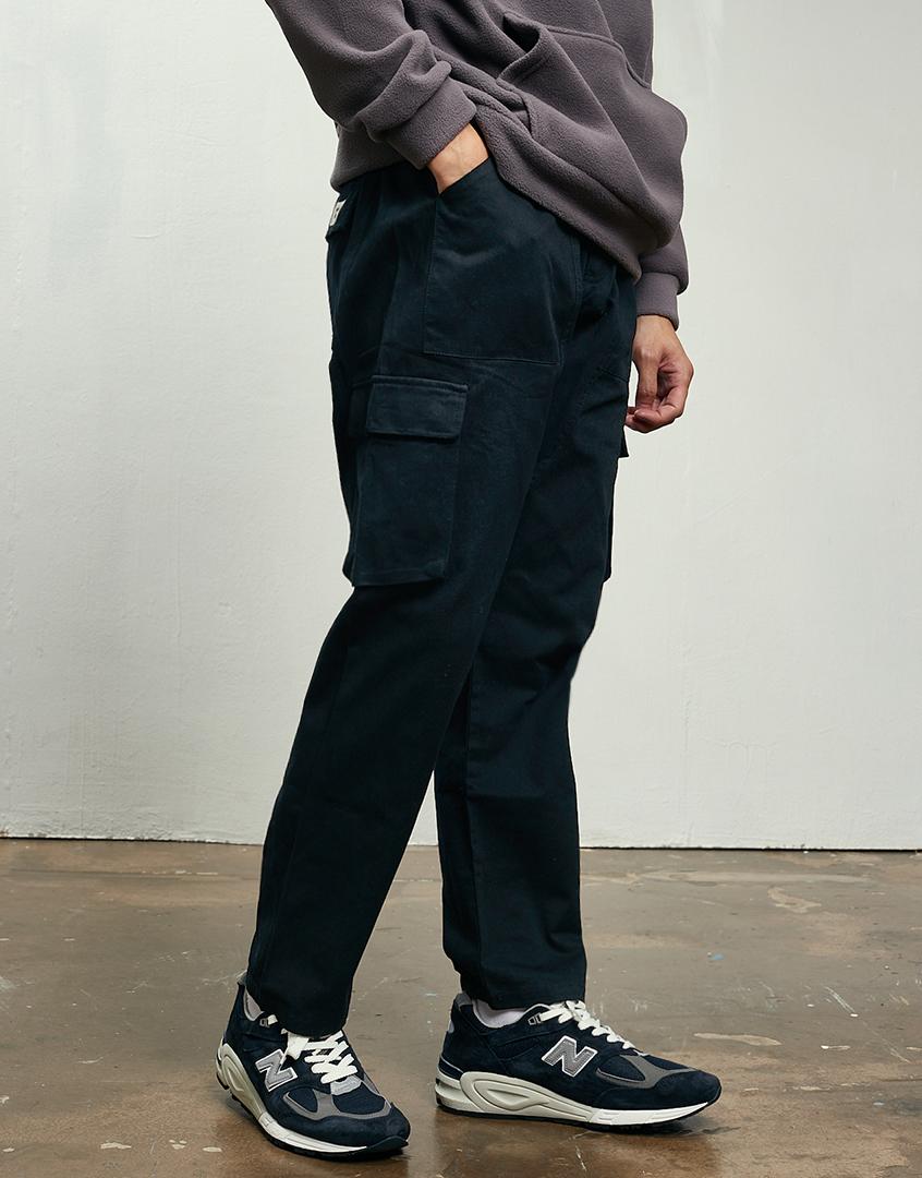 重磅口袋軍裝長褲