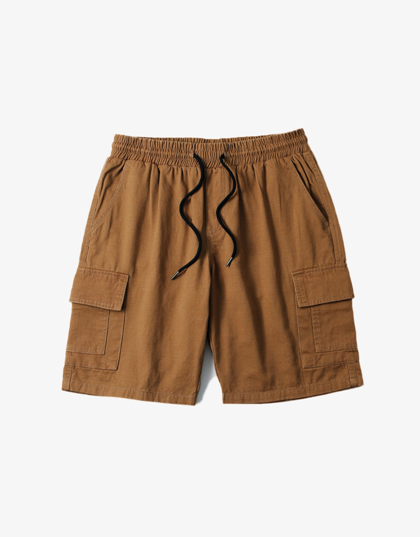 水洗口袋軍裝短褲