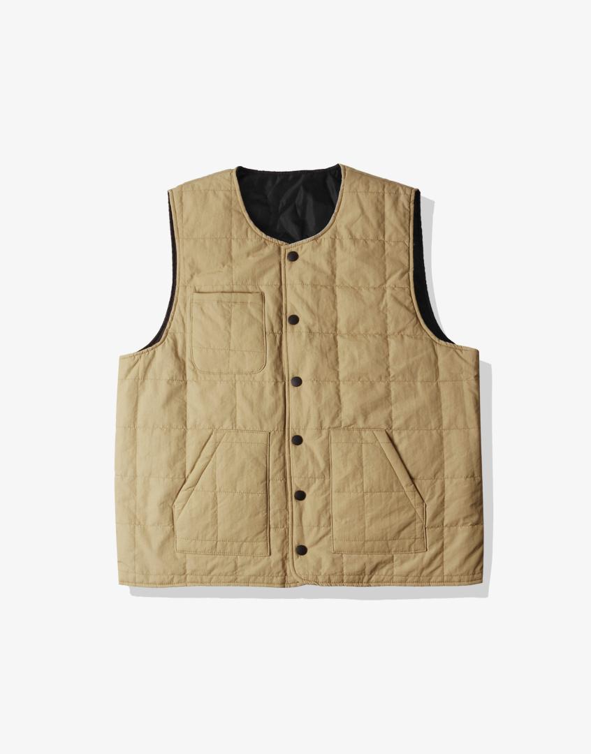 防潑水雙面格紋背心外套