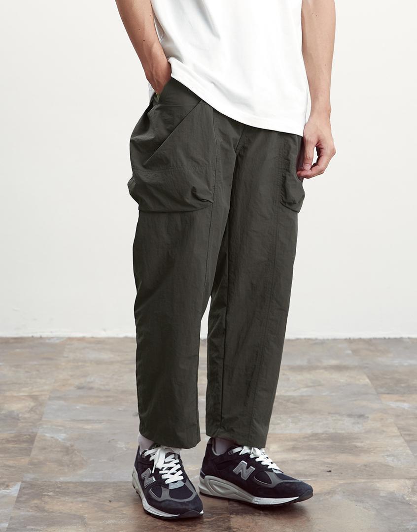 不規則口袋工作長褲