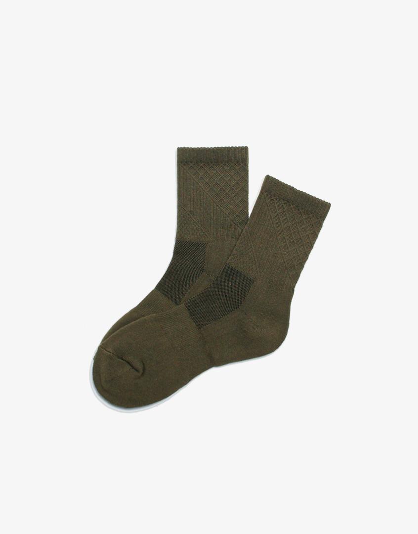 立體紋社頭中長襪