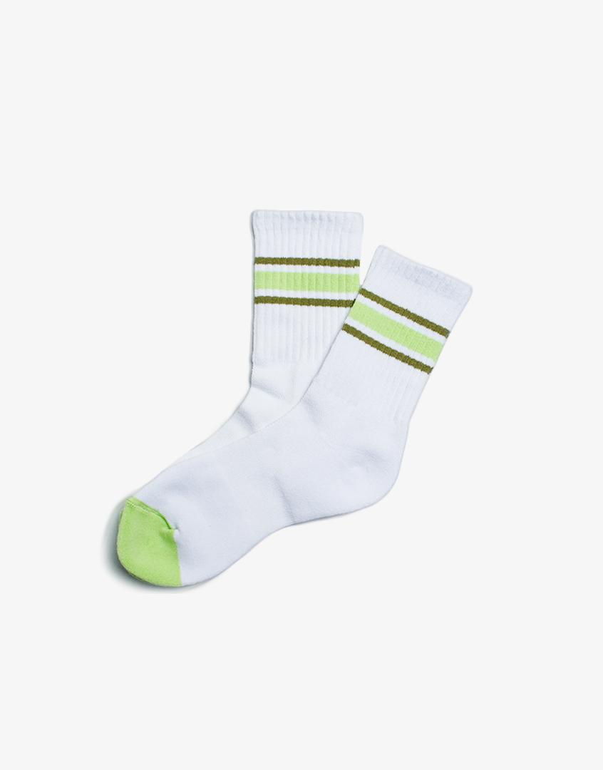 條紋撞色社頭長襪