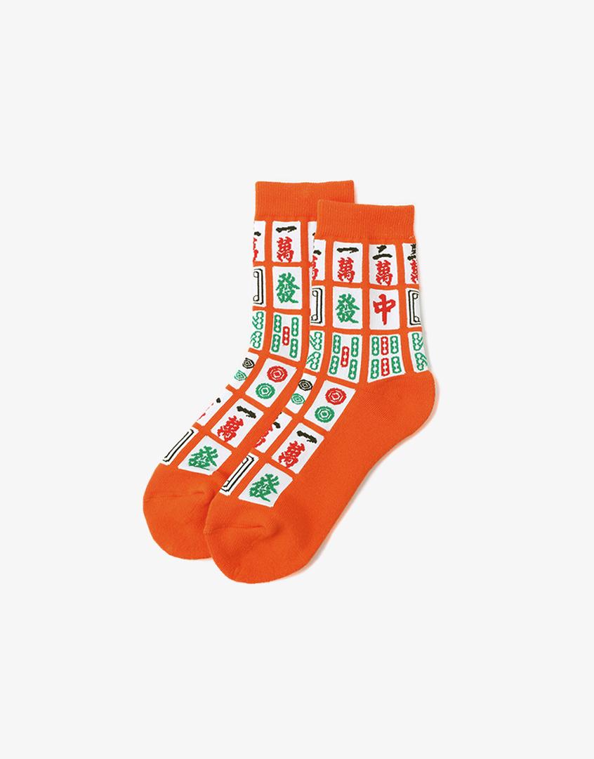 麻將刺繡長襪