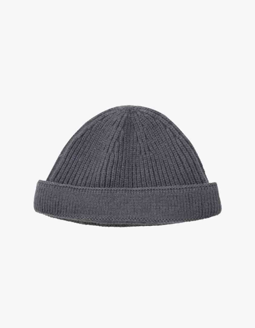 重磅純棉坑條短毛帽