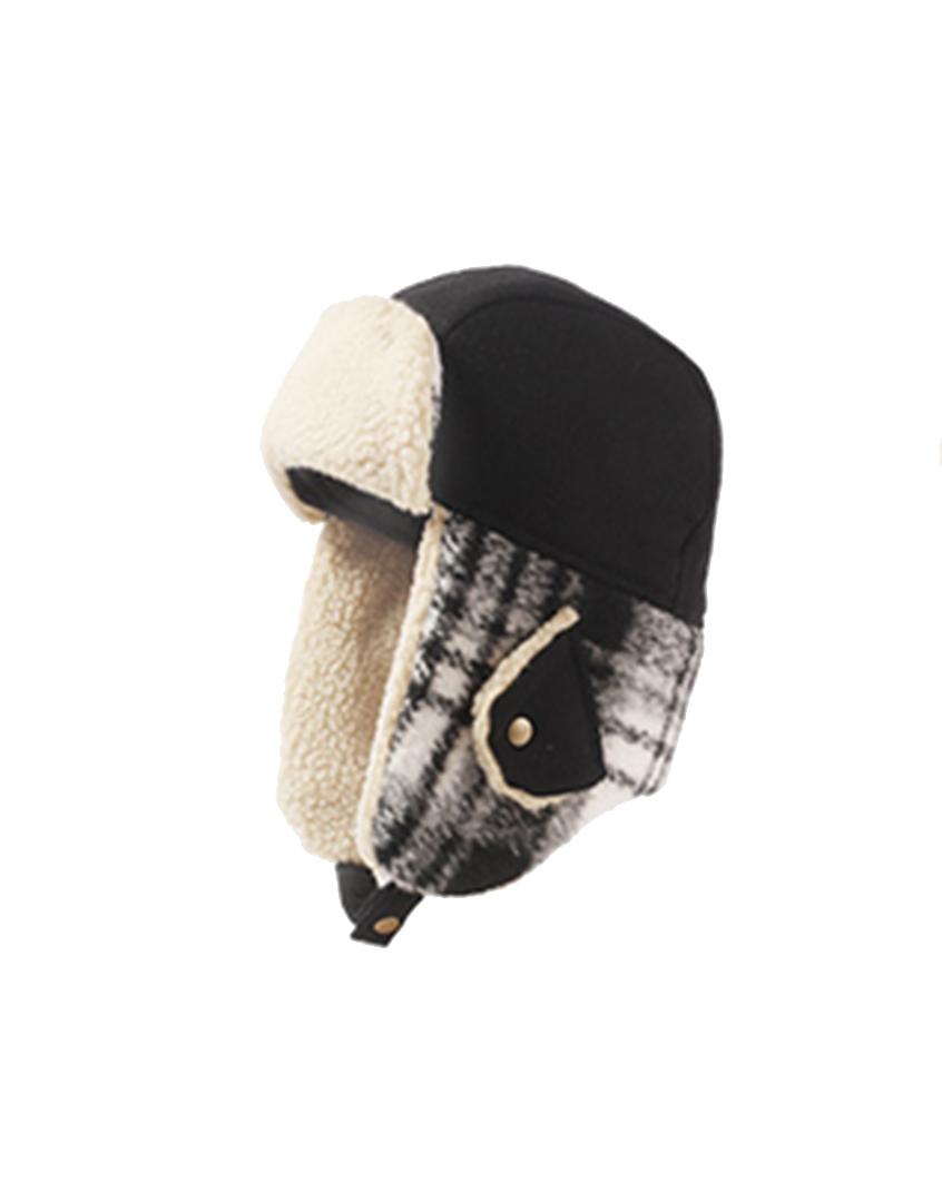 抗寒護耳羊羔毛飛行雷鋒帽